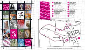 Routekaart van de KunstrouteValburg2015